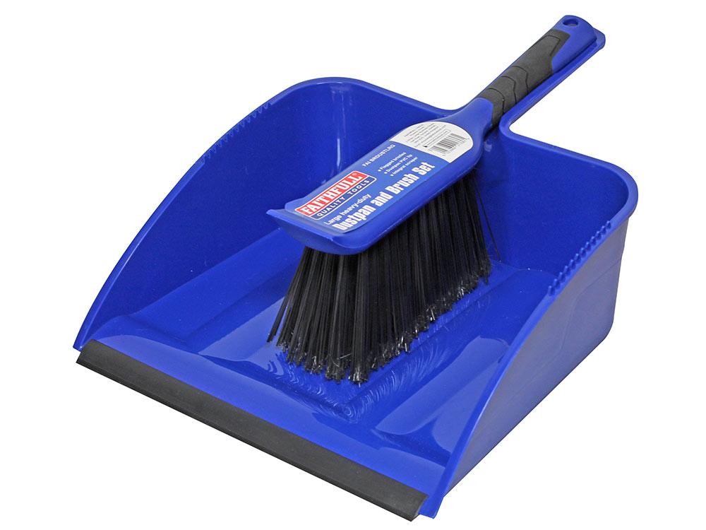 Faithfull Heavy-Duty Dust Pan & Brush Set