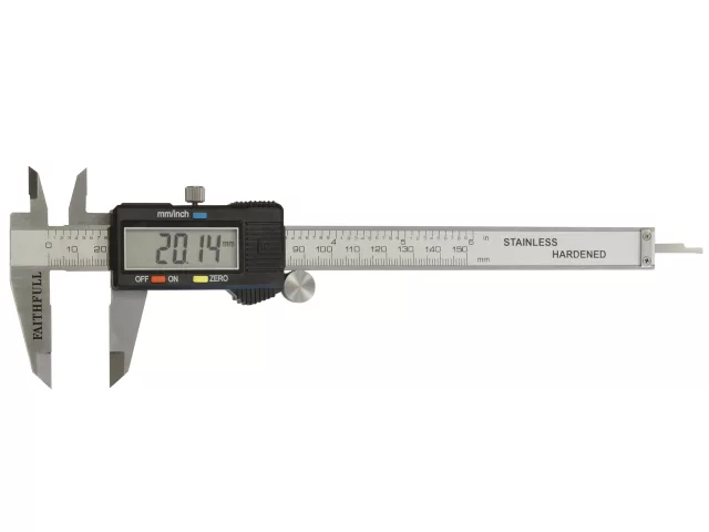 FAITHFULL DIGITAL CALIPERS STAINLESS STEEL