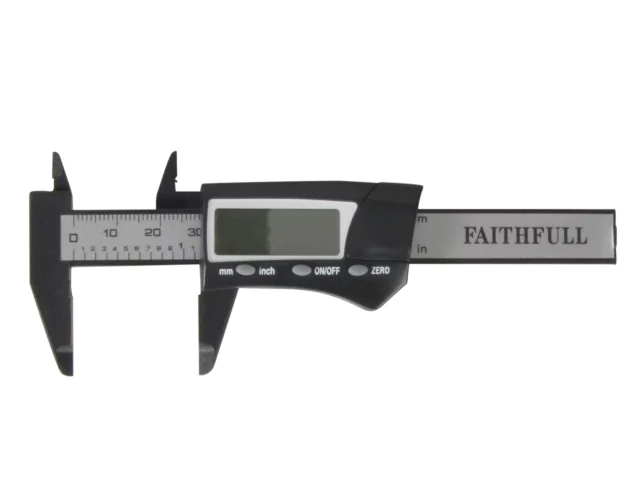 FAITHFULL MINI DIGITAL CALIPER 75MM CAPACITY