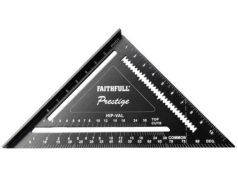 Faithfull Black Aluminium 300mm (12in) Quick Square