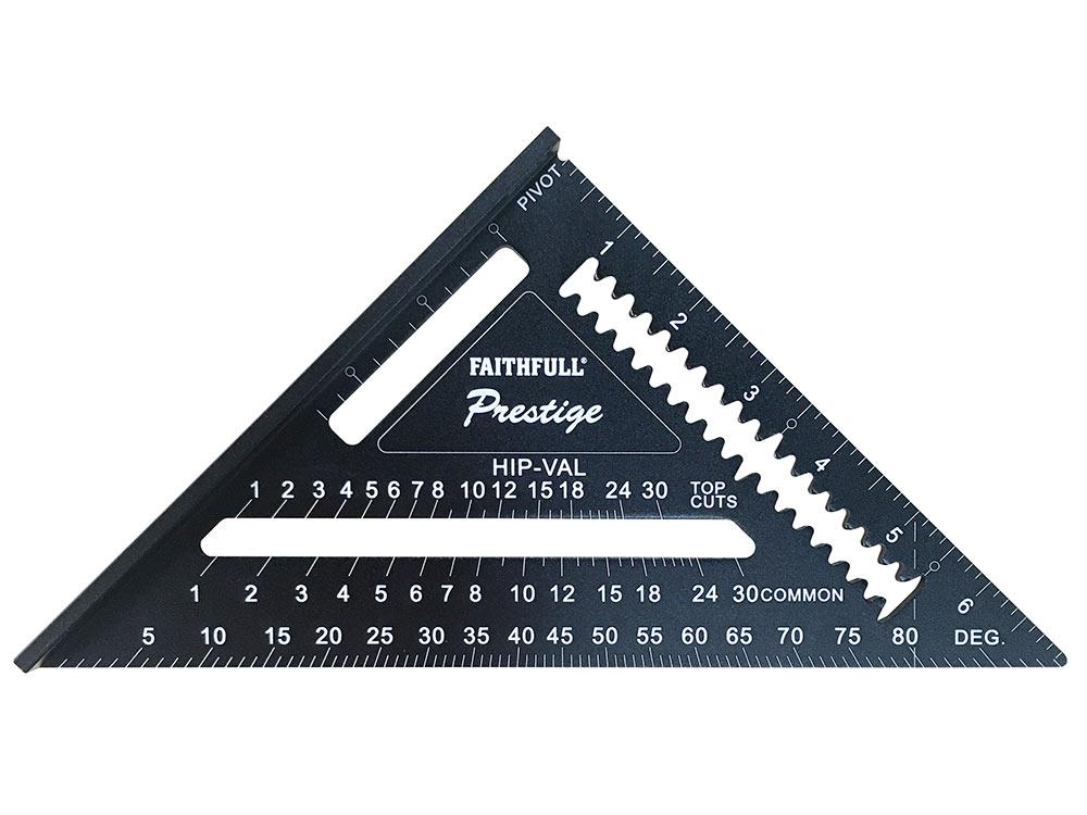 Faithfull Prestige Quick Square Black Aluminium 178mm (7in)