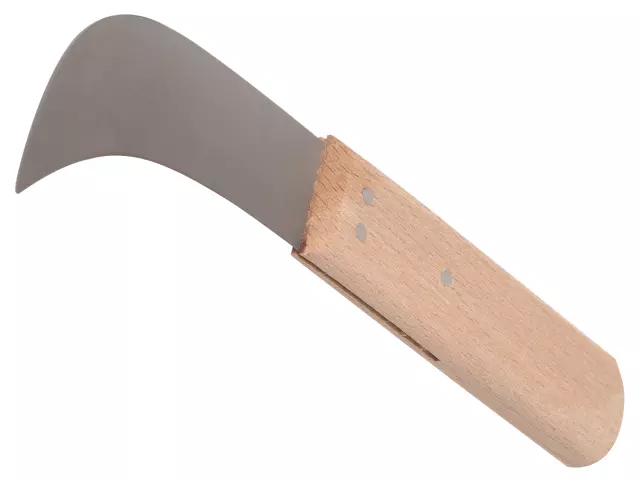 Faithfull Lino Knife 75mm (3in) - Beech Handle
