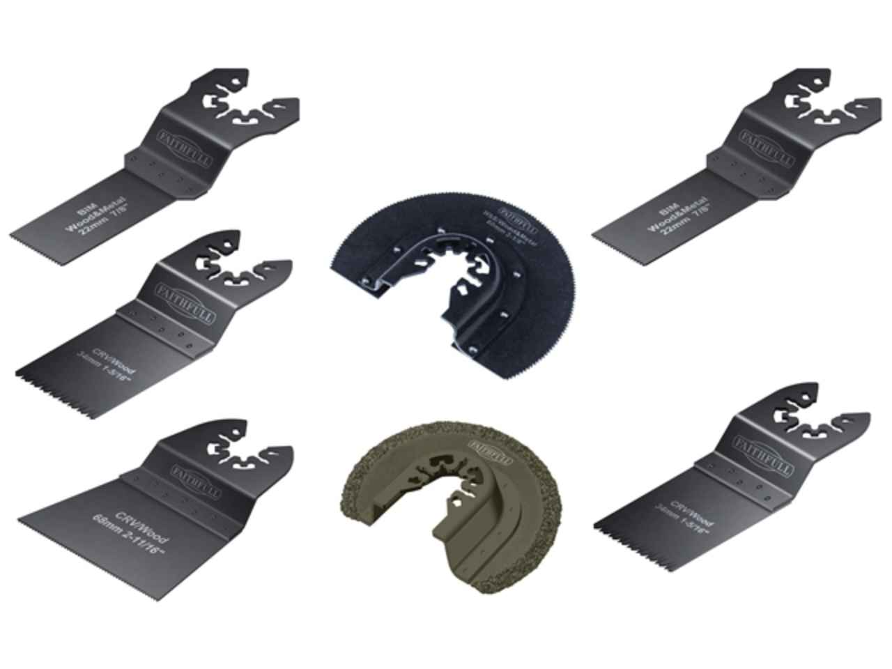 Faithfull 7 Piece Multi-Tool Blade Set