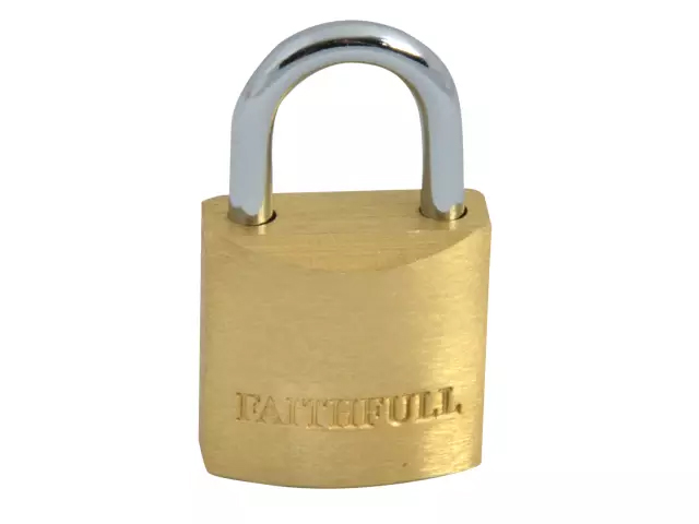 FAITHFULL BRASS PADLOCK 20MM - 3 KEYS