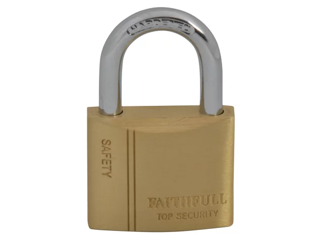 FAITHFULL BRASS PADLOCK 40MM - 3 KEYS