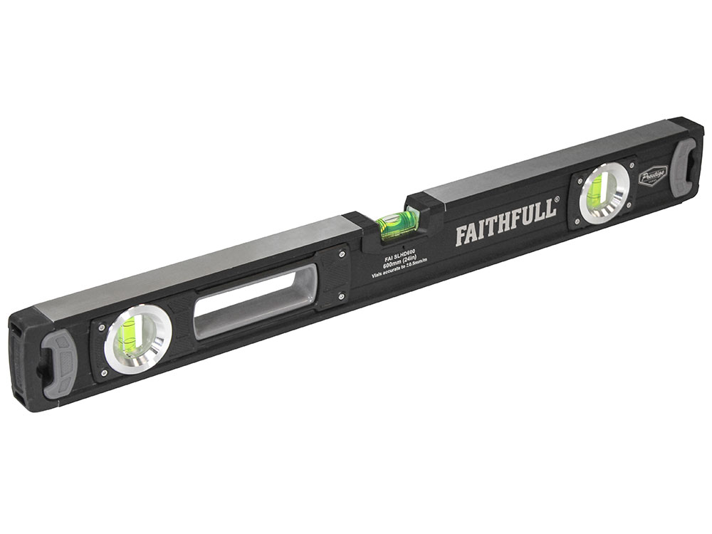Faithfull 600mm Heavy-Duty Prestige Pro Spirit Level - 600mm