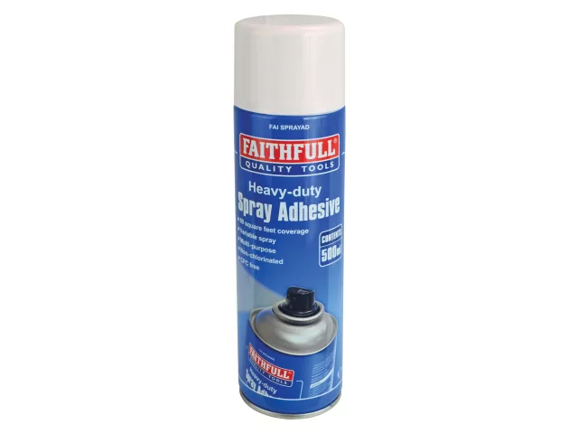 FAITHFULL SPRAY ADHESIVE NON-CHLORINATED 500ML