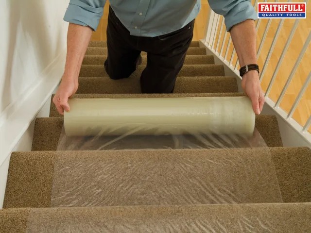 FAITHFULL CARPET PROTECTOR 600MM X 25M