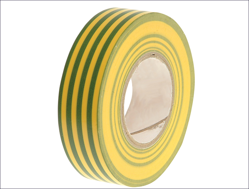 FAITHFULL PVC ELECTRICAL TAPE GREEN & YELLOW 19MM X 20M