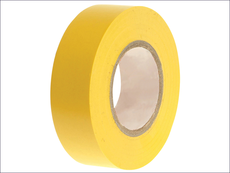 FAITHFULL PVC ELECTRICAL TAPE YELLOW 19MM X 20M