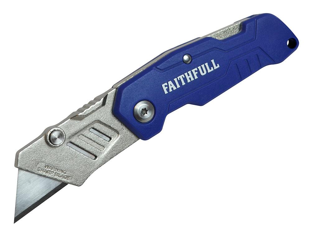 Faithfull Folding Lock Back Utility Knife