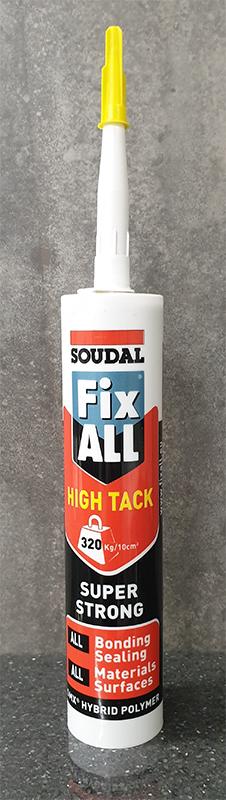SOUDAL FIX ALL HIGH TACK GRAB ADHESIVE 290ML - WHITE