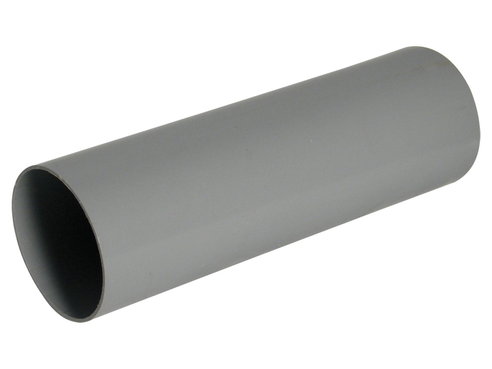Floplast RP2.5GR 68mm Round Downpipe 2.5 Metre - Grey