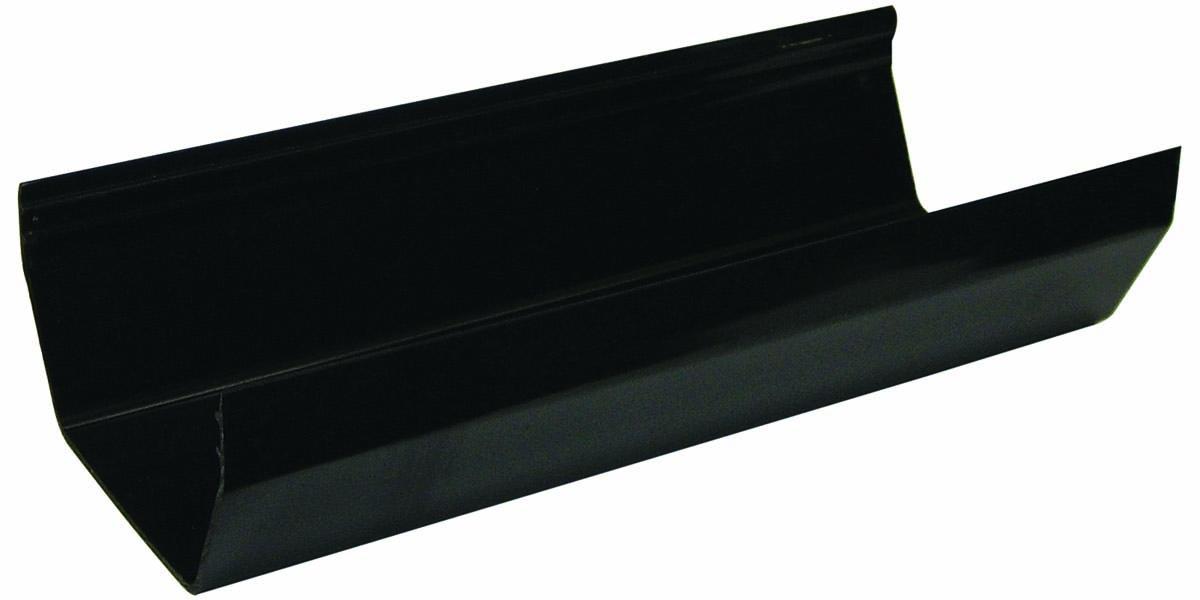 FLOPLAST RGS4 SQUARE LINE GUTTER - GUTTER - BLACK