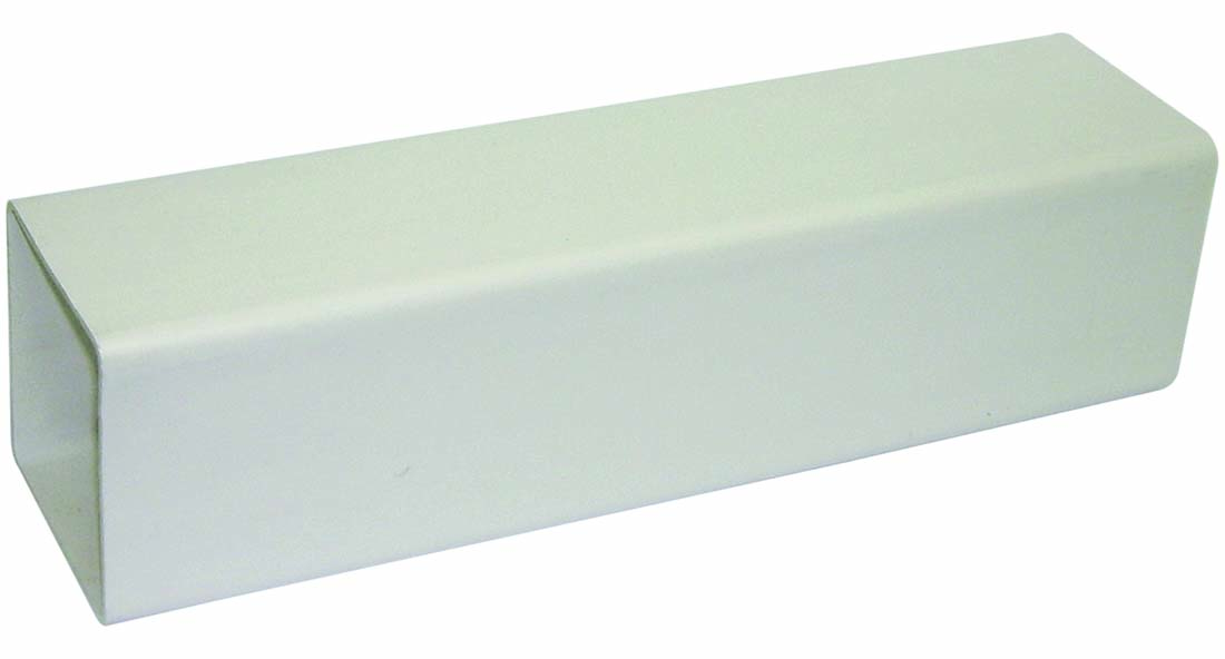 FLOPLAST 65MM SQUARE DOWNPIPE - RPS2.5 PIPE 2.5M - WHITE