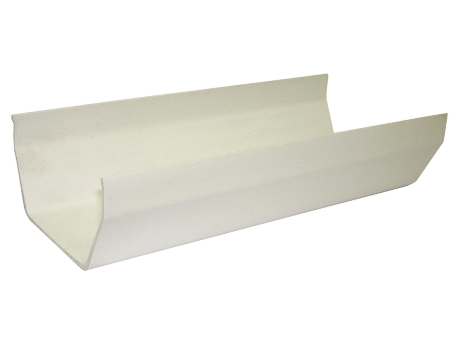 FLOPLAST RGS4 SQUARE LINE GUTTER - GUTTER - WHITE