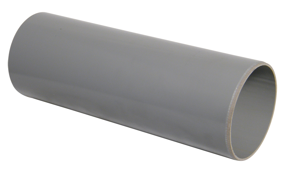 FLOPLAST SP1G 3M PLAIN ENDED SOIL PIPE 110MM GREY (also available per metre)