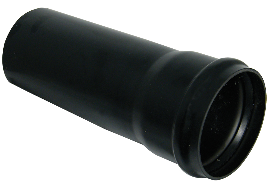 "Floplast SP4BL 110mm/4"" Ring Seal Soil Pipe with Single Socket 4 Metre - Black"