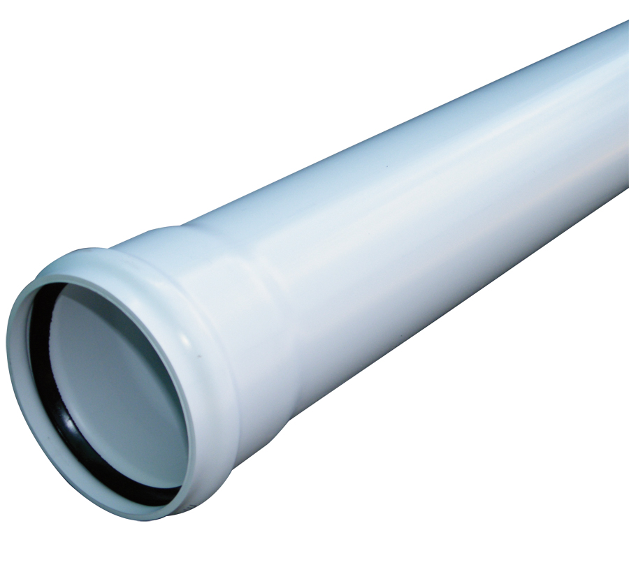"Floplast SP3WH 110mm/4"" Ring Seal Soil Pipe with Single Socket 3 Metre - White"