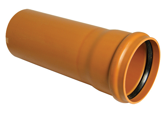 Floplast D146 110mm Underground Drainage Pipe Single Socket 6 Metre