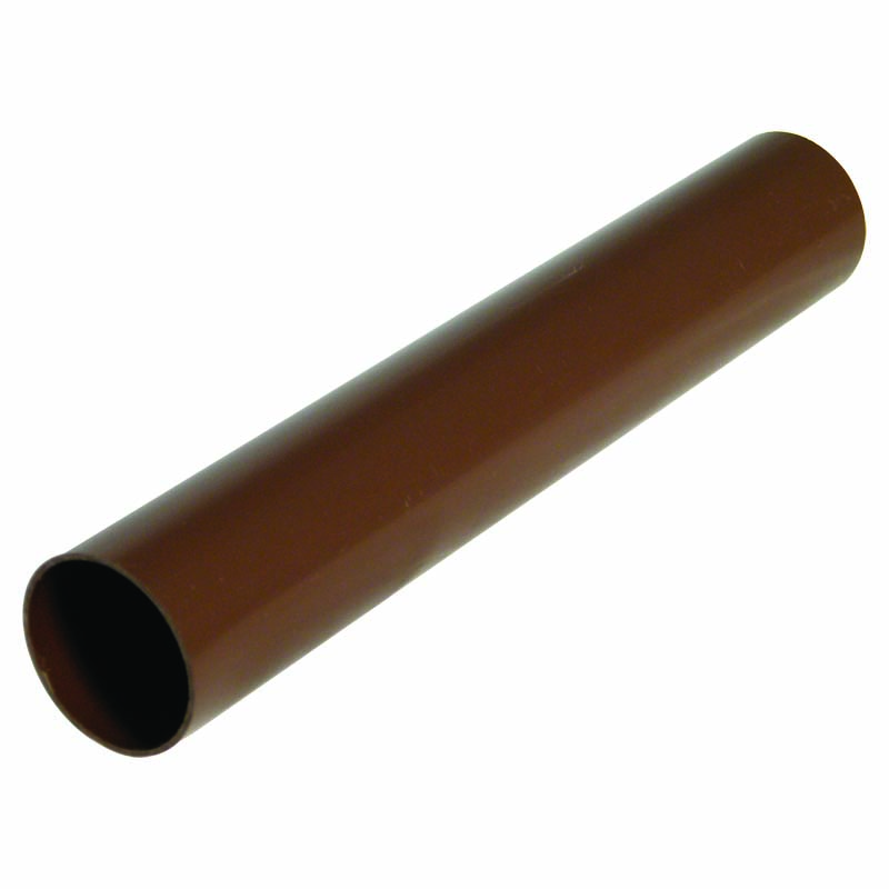 FLOPLAST RPM2BR MINIFLO 50MM DOWNPIPE - RPM2 DOWNPIPE 2 METRE - BROWN