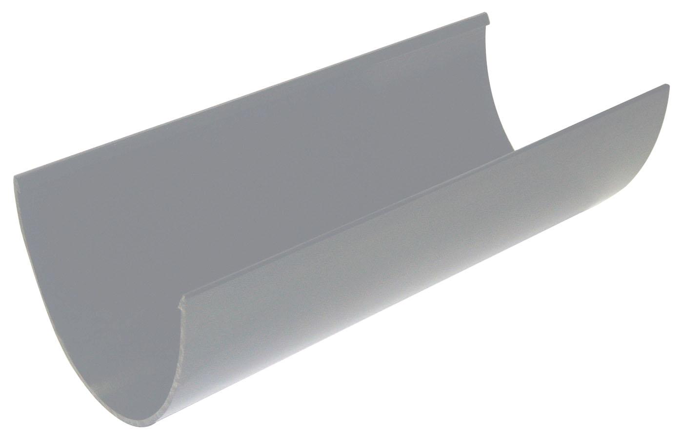 Floplast RGH4GR 115mm Hi-Cap (Deepflow) Gutter 4 Metre - Grey