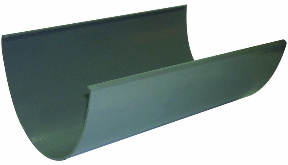 Floplast RGX4GR 170mm Xtraflo Gutter 4 Metre - Grey