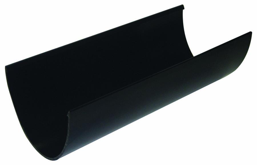 FLOPLAST RGX4BL XTRAFLO GUTTER SYSTEM - 4M GUTTER - BLACK