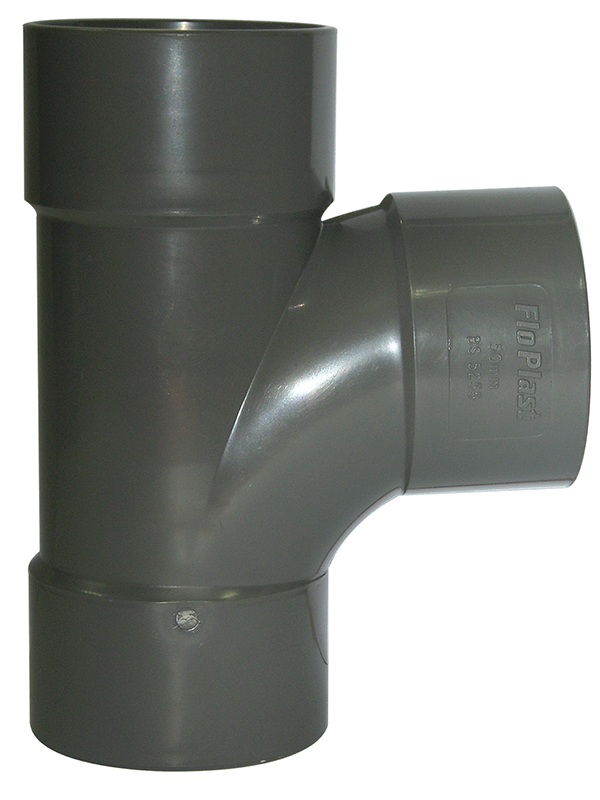 Floplast WS22GR 32mm (36mm) ABS Solvent Weld Waste System Tee - Grey