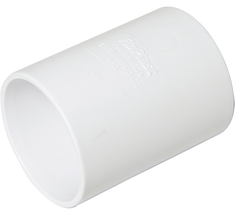 WS07W 32MM COUPLING ABS WHITE