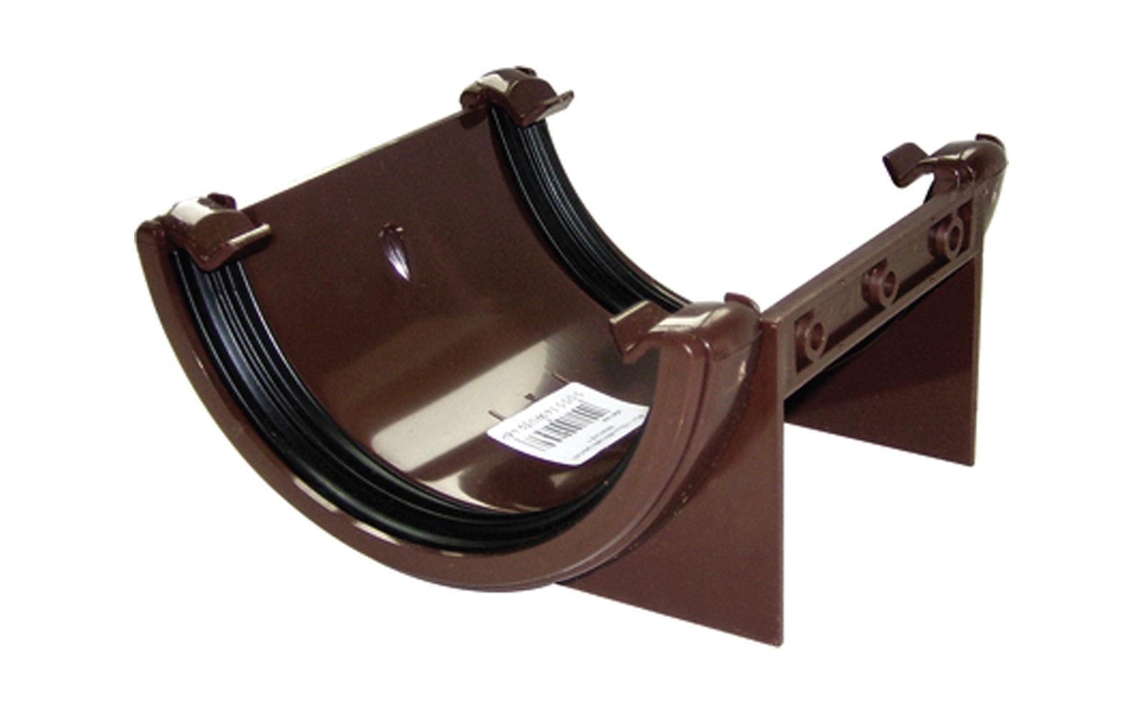 FLOPLAST RU1BR HALF ROUND GUTTER - UNION BRACKET - BROWN