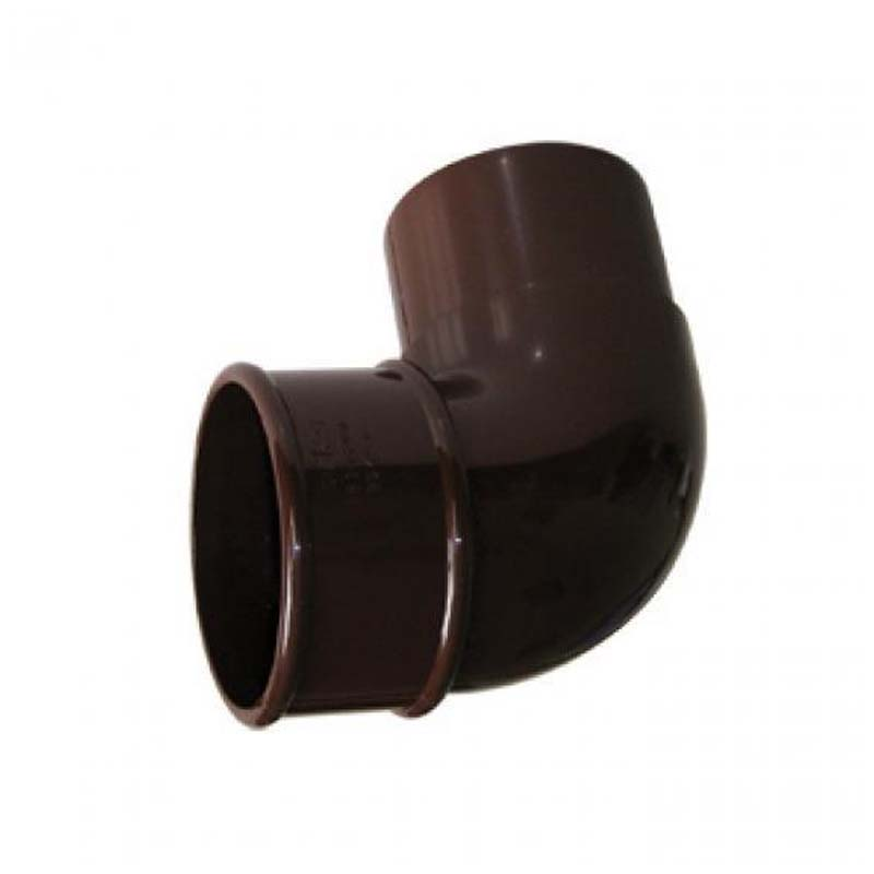 Floplast RB1BR 68mm Round Downpipe - 92.5* Offset Bend - Brown