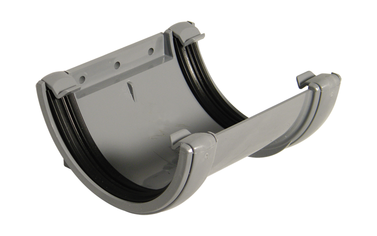 Floplast RU1GR 112mm Half Round Gutter - Union Bracket - Grey