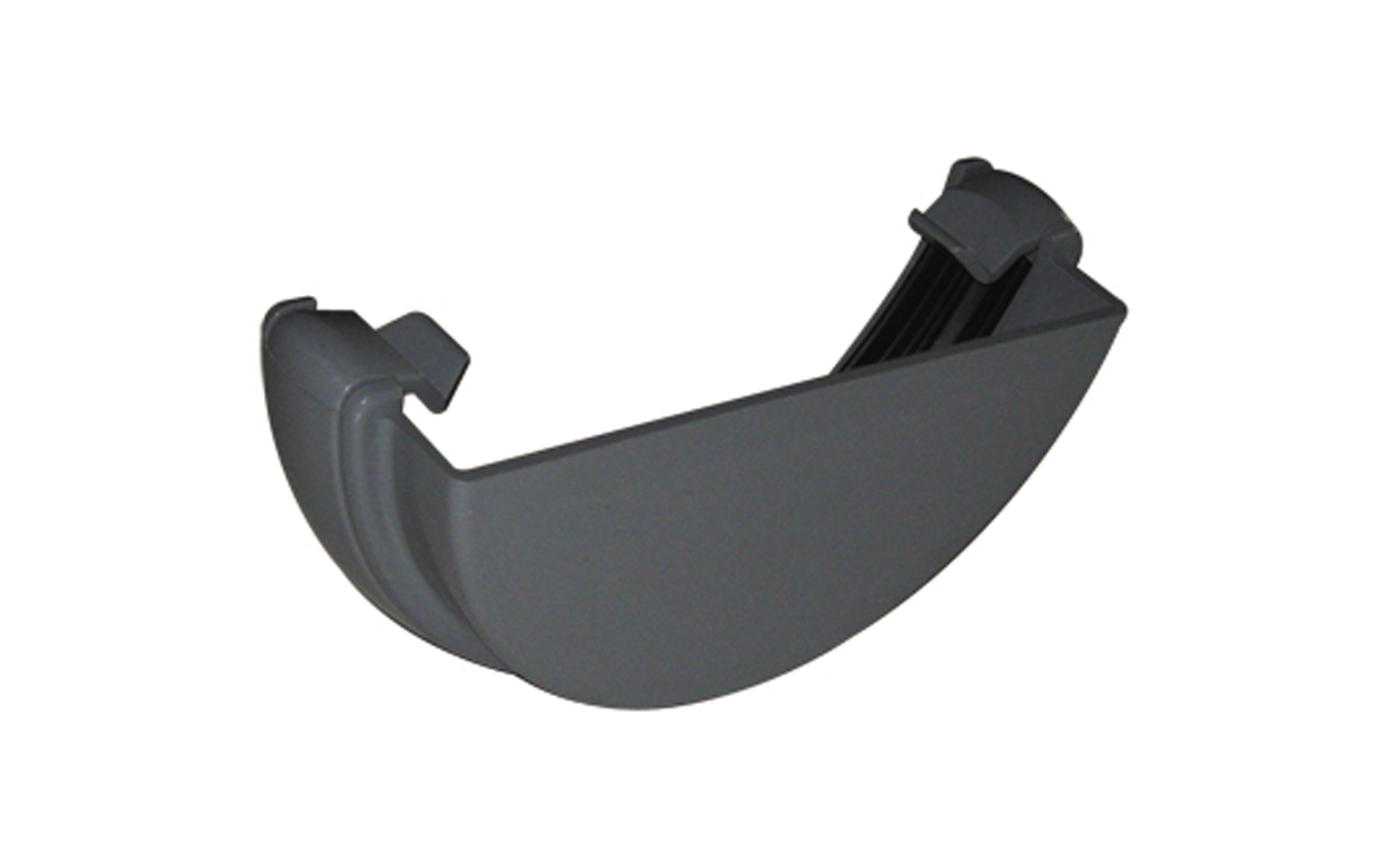 FLOPLAST RE1GR HALF ROUND GUTTER - EXTERNAL STOPEND - GREY