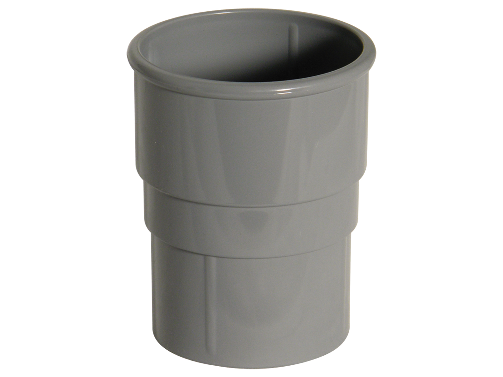 FLOPLAST RS1GR 68MM ROUND DOWNPIPE - PIPE SOCKET - GREY