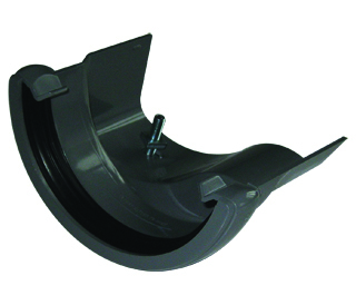 Floplast RD3GR 112mm Half Round Gutter to Cast Iron Ogee - Right Hand Adaptor - Grey