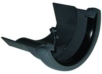 Floplast RD4GR 112mm Half Round Gutter to Cast Iron Ogee - Rd4 Left Hand - Grey