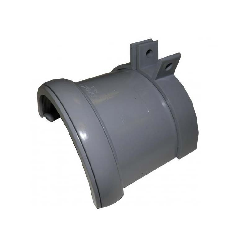 Floplast RD5GR 112mm Half Round Gutter - Cast Iron Adaptor - Grey