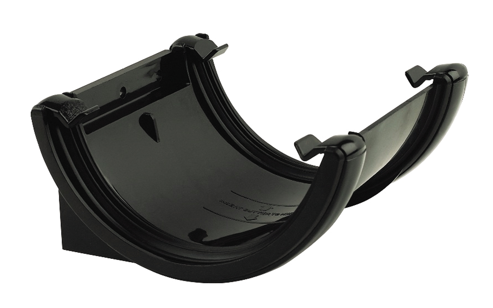 Floplast RU1BL 112mm Half Round Gutter - Union Bracket - Black