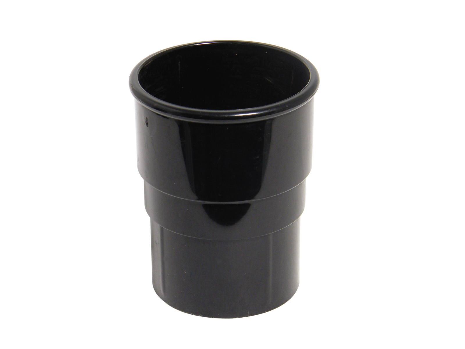 FLOPLAST RS1BL 68MM ROUND DOWNPIPE - PIPE SOCKET - BLACK
