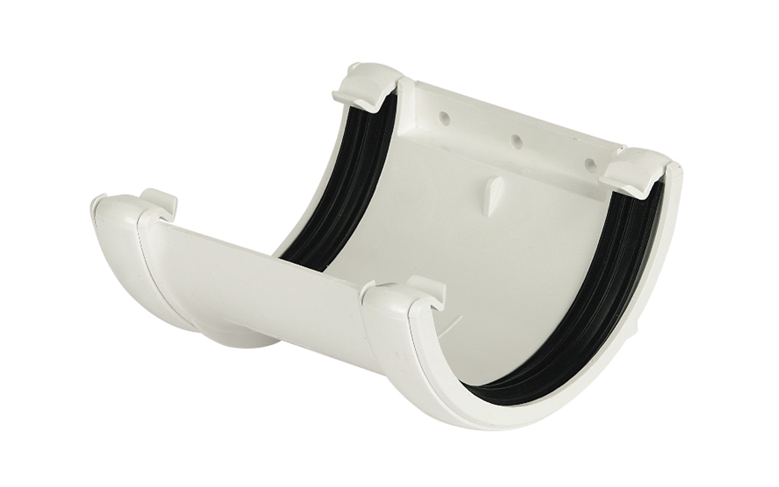 Floplast RU1WH 112mm Half Round Gutter - Union Bracket - White