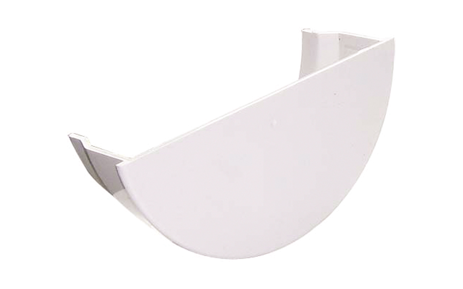 FLOPLAST RE2WH HALF ROUND GUTTER - INTERNAL STOPEND - WHITE