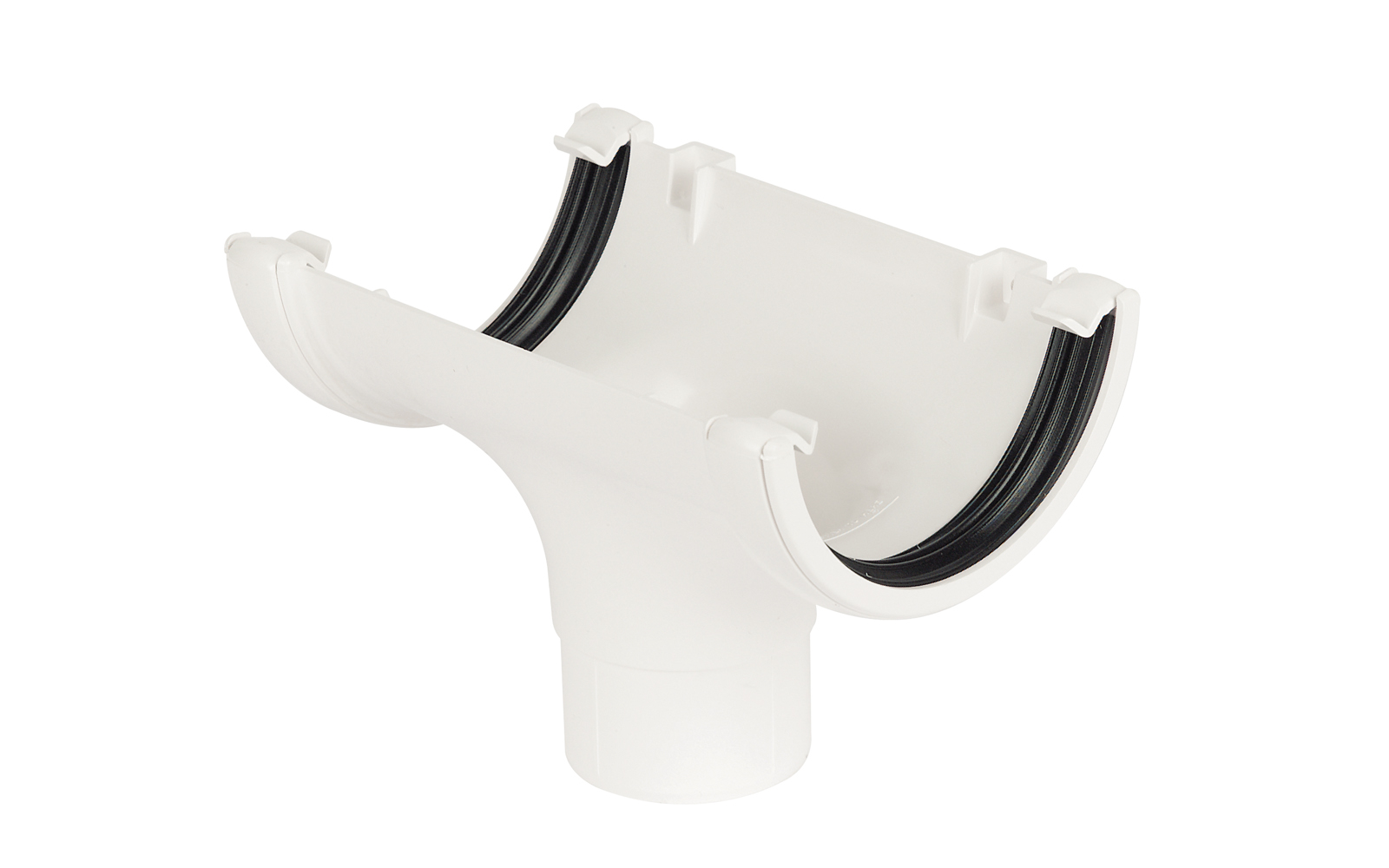 Floplast RO1WH 112mm Half Round Gutter - Running Outlet - White