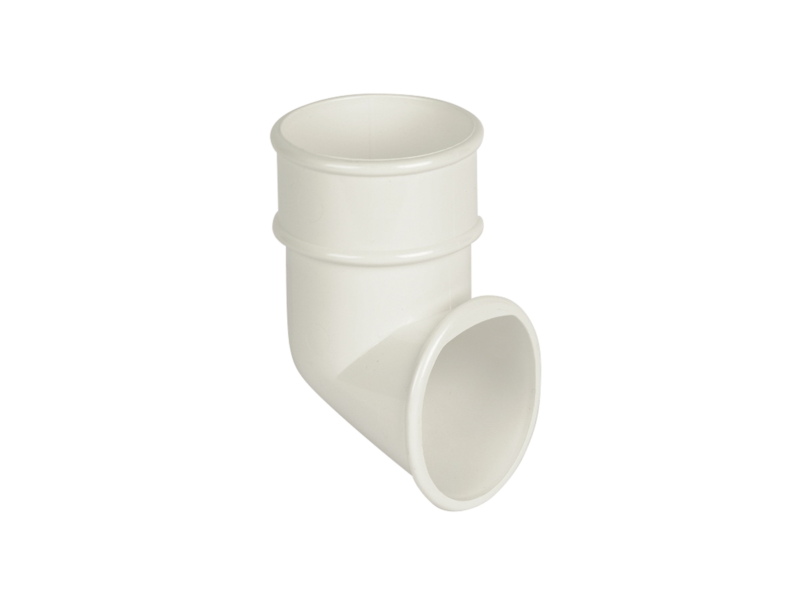 FLOPLAST RB3WH 68MM ROUND DOWNPIPE - SHOE - WHITE