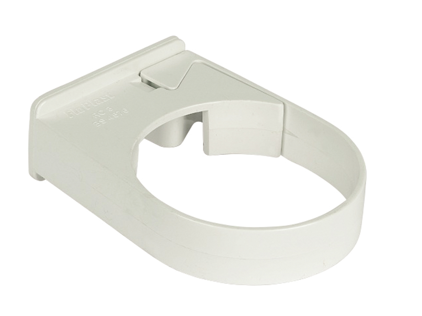 Floplast RC3WH 68mm Round Downpipe - Single Fix Pipe Clip - White