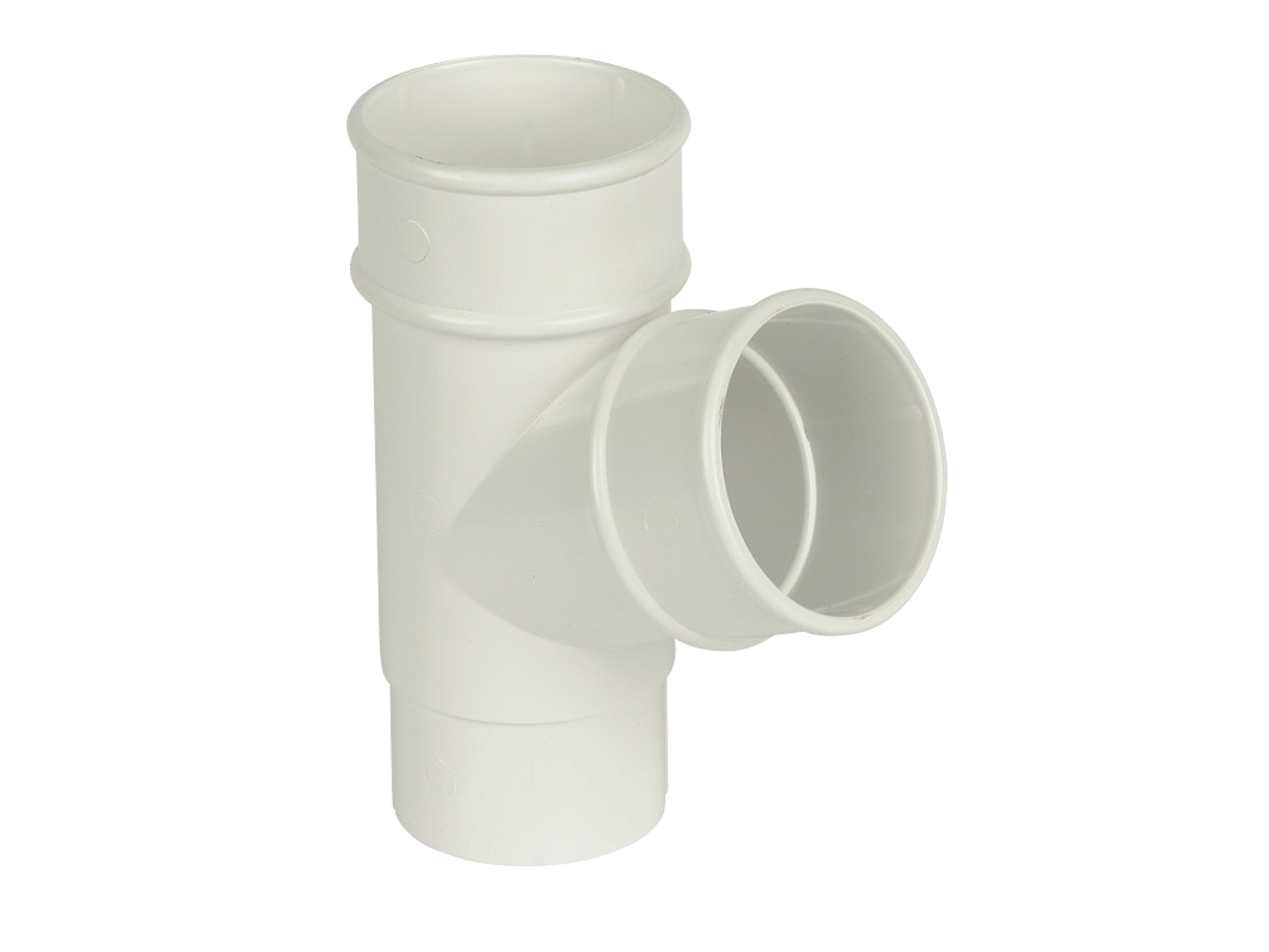 Floplast RY1WH 68mm Round Downpipe - 67.5* Branch - White