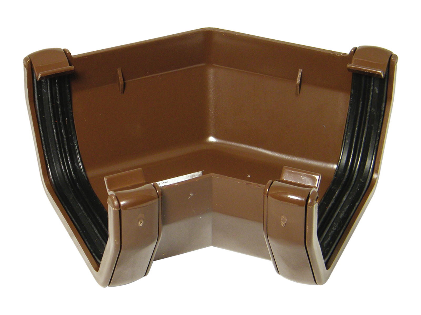 FLOPLAST SQUARE LINE GUTTER - RAS2 135* ANGLE - BROWN