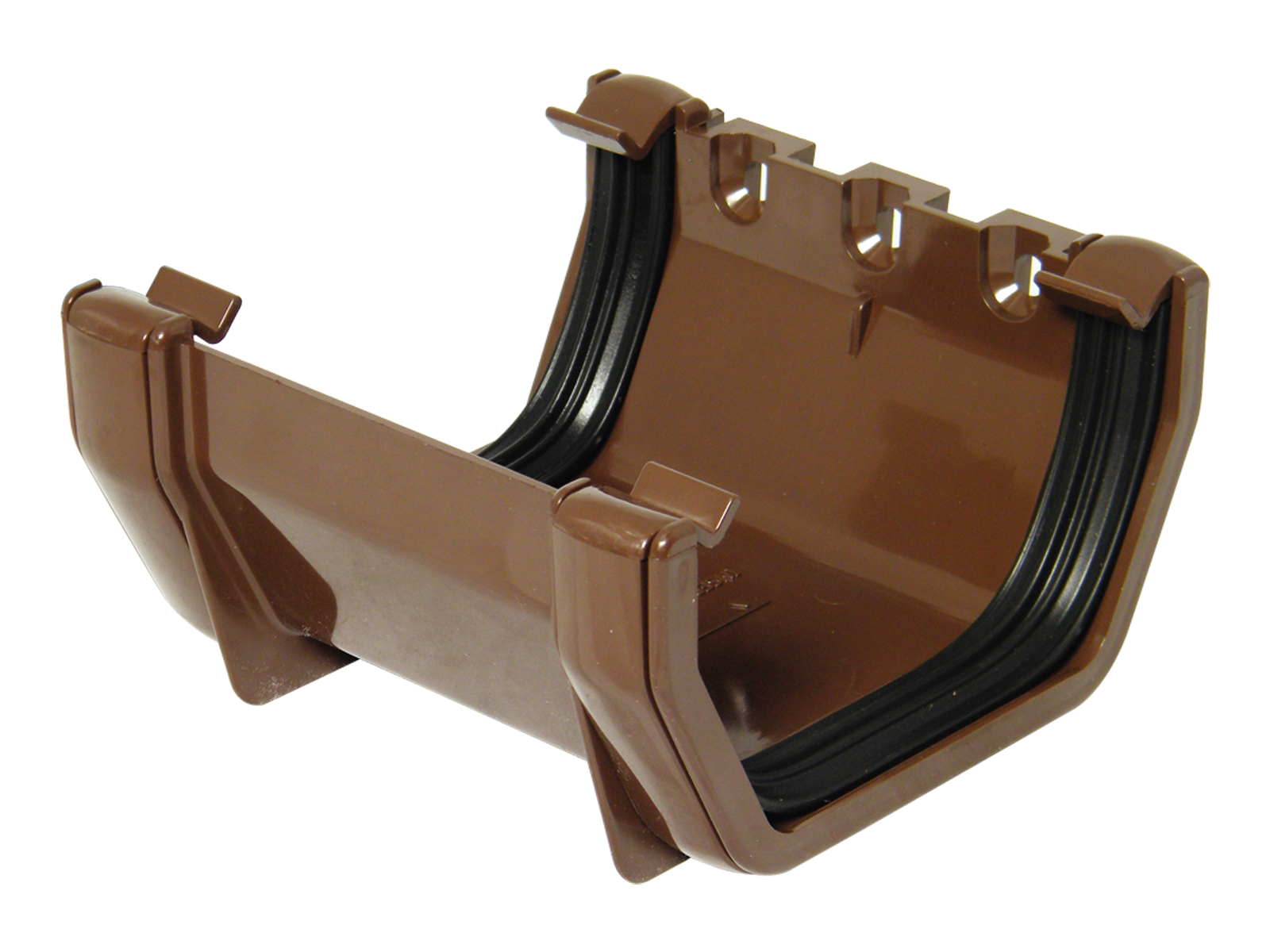 FLOPLAST RUS1BR SQUARE LINE GUTTER - UNION BRACKET - BROWN