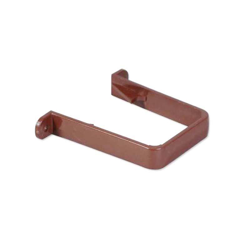 Floplast RCS1BR 65mm Square Downpipe - Pipe Clip - Brown