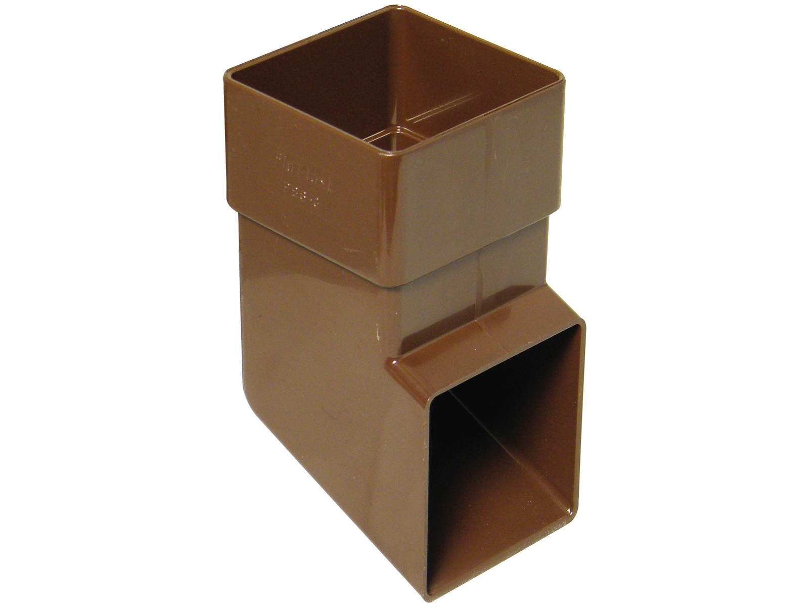FLOPLAST 65MM SQUARE DOWNPIPE - RBS3 SHOE - BROWN